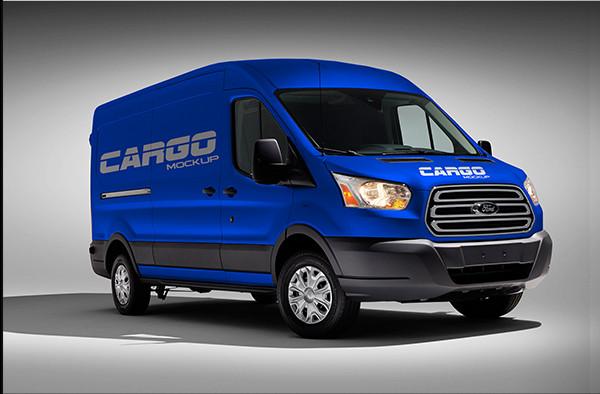 Free Mock-Up Van Cargo