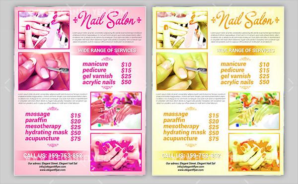 Free Nail Salon PSD Flyer Template