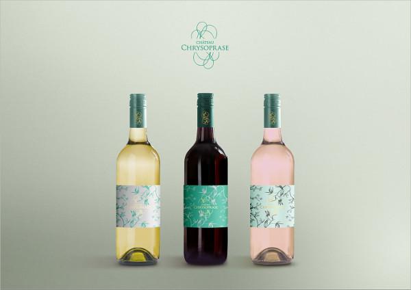 Free PSD Wine Bottle Display Mockup