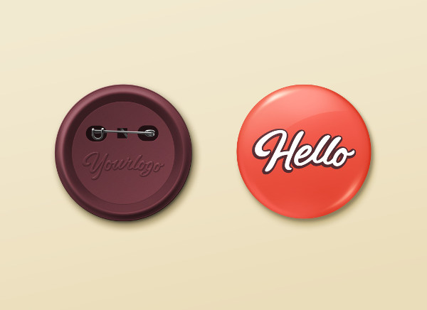 Free Pin Button Badge Mock-Up