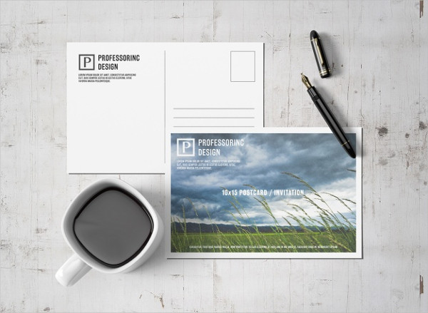 Free PSD Postcard Design Mockup