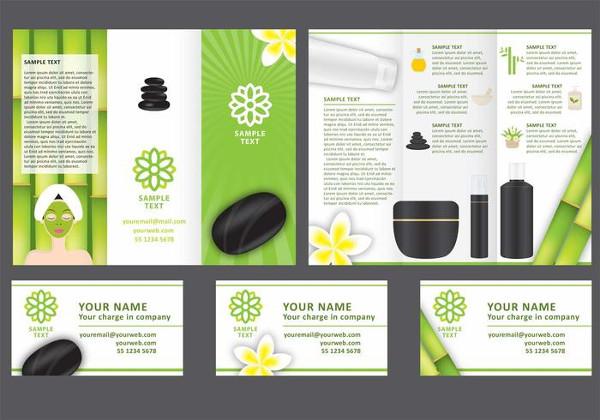 Free Spa Tri Fold Brochure Vector Template