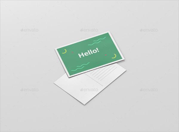 Fully Customizable Postcard Mock-Up