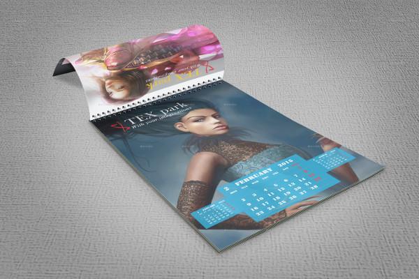 Fully Editable Calendar Mock-Up
