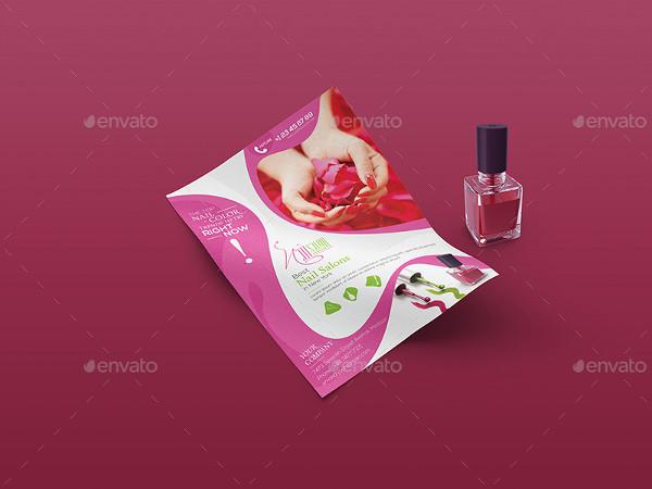 Fully Editable Nail Salon Flyer