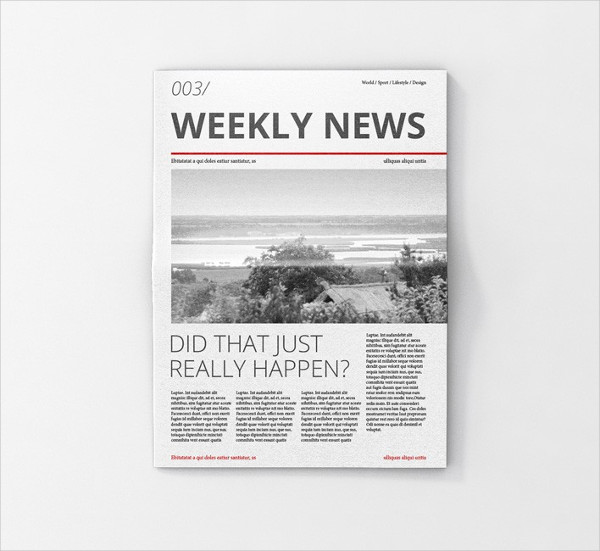 Newspaper Ad Mockup PSD Free Download
