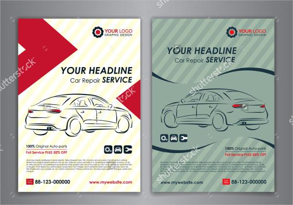 Set of Auto Repair Services Flyer Templates