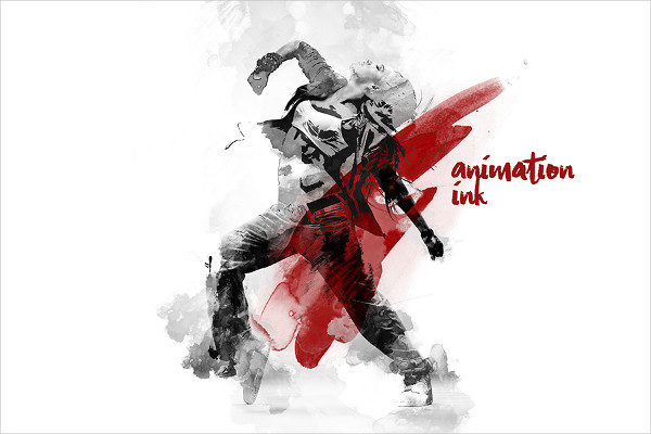 Gif Animated Watercolor Photoshop Action