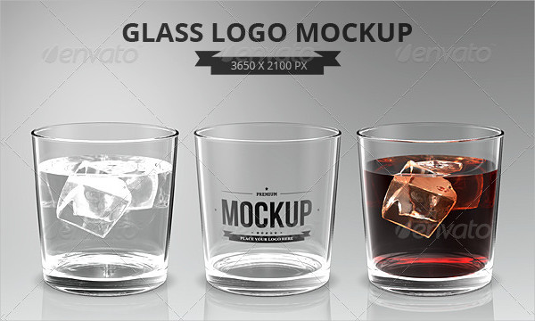 Glasses Logo Mock-Up