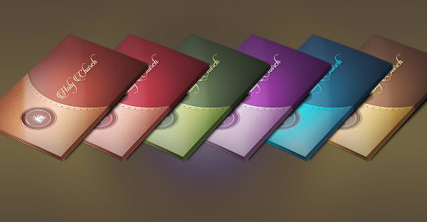 Elegant Gold & Lavender Church Business Card