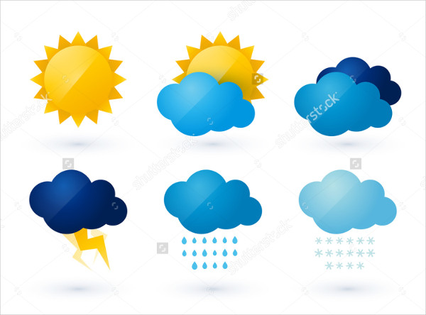 Graphic Design Weather Vector Icons