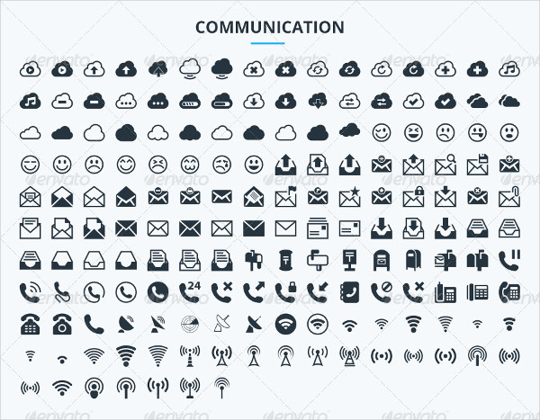 Grid Vector Communication Icons