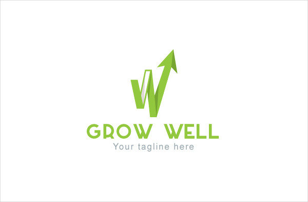 Grow Well Business Logo Template