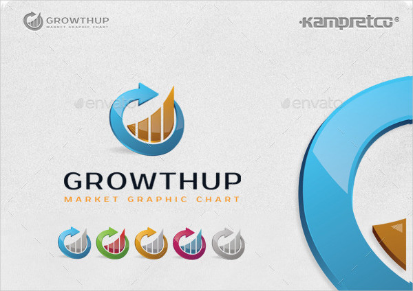 Growth Infographic Logo Design