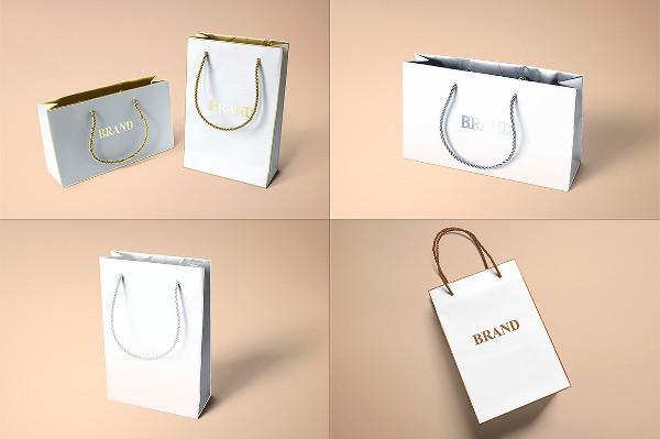 Clean Paper Bags Mock-ups Design
