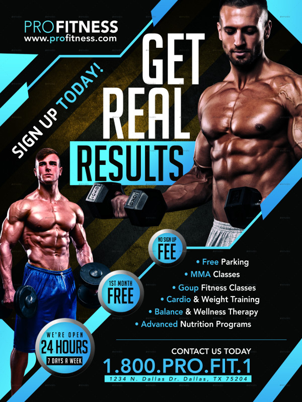 Gym & Fitness Posters or Flyer