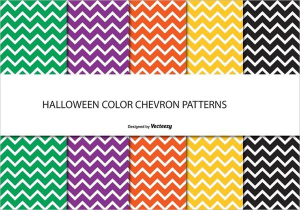 Halloween Chevron Pattern Set