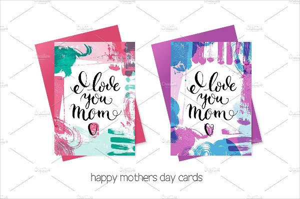 Happy Mothers Day Cards Vector Set