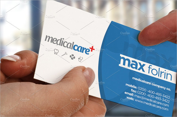 Unique Medical Care Business Card Template