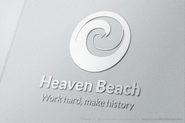 Heaven Beach Logo Template