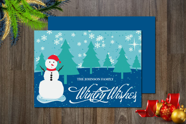 Holiday Non-Photo Card Template