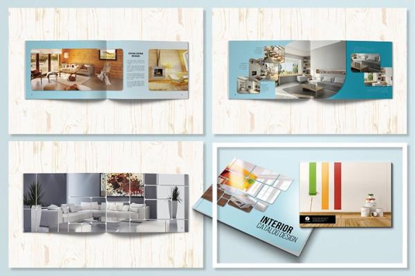 Horizontal Catalog Brochure Template