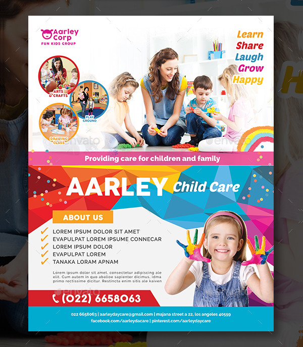 Customizable Child Care Flyer Template
