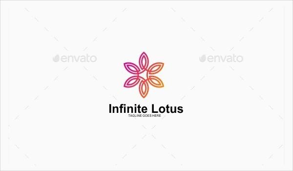 Infinite Lotus Logo Template
