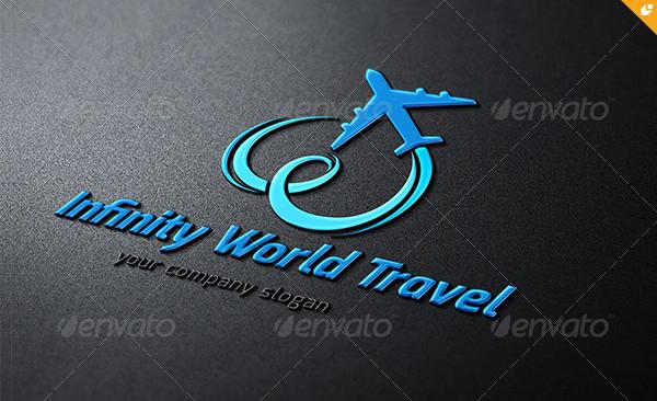 Infinity World Travel Logo Template
