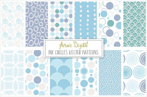 Ink Circles and Dots Vector Patterns
