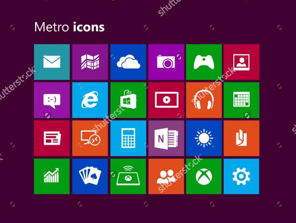 Metro Designed Icons