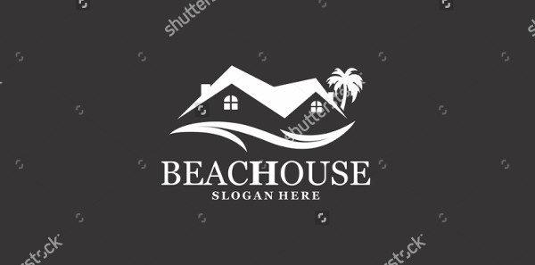 Beach Island Logo Template