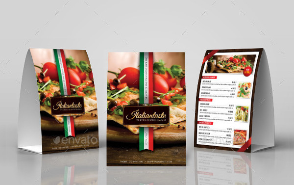 Creative Table Tent Templates Free Premium Download - Restaurant table tent template