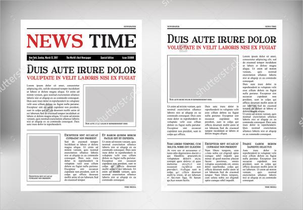 Newspaper Vertical Mockup