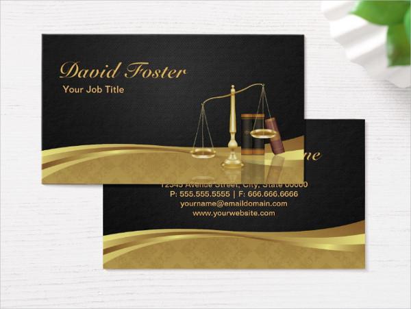 Elegant Justice Business Card Template