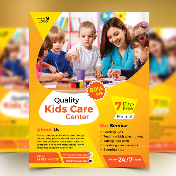 Kids Care Center Marketing Flyer