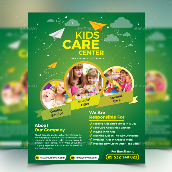 Kids Care Flyer Template