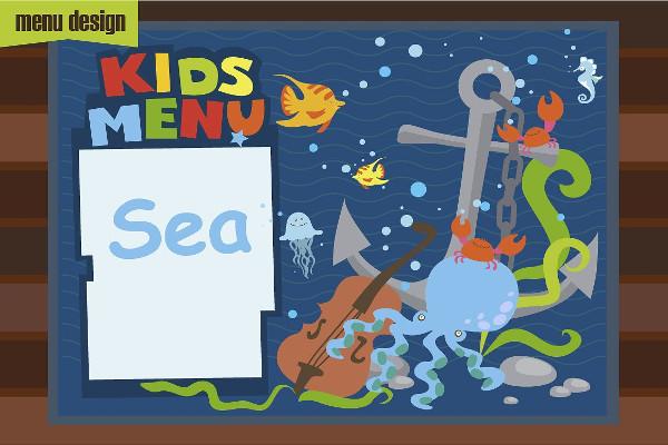 Kids Cartoon Menu Designs
