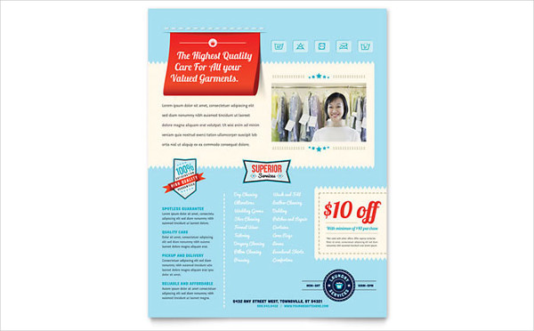 Laundry Business Flyers Design