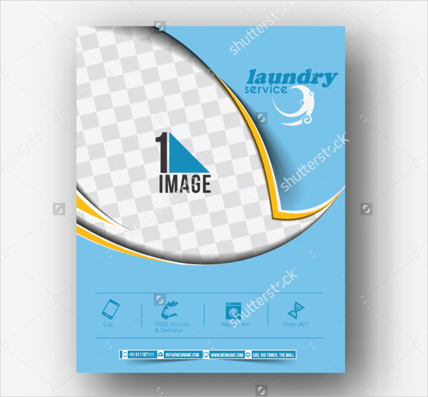 Laundry Services Marketing Flyer Template