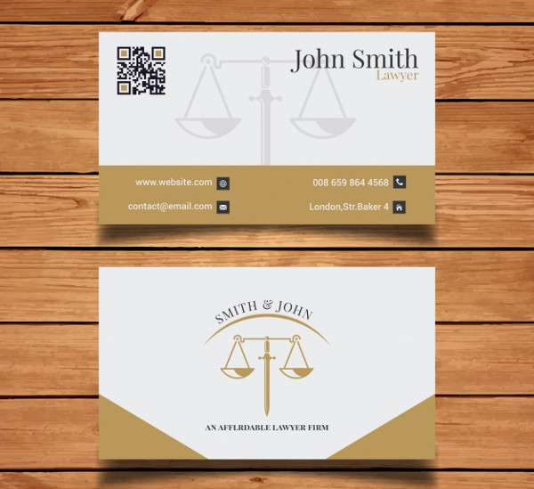 Free Vector Lawyer Business Card Template