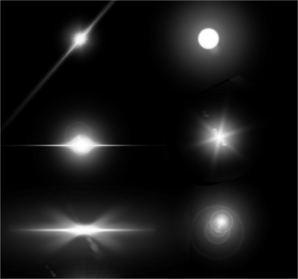 Lens Flares & Stars Photoshop Brushes