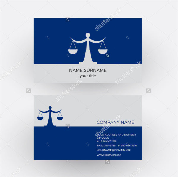 Libra Lawyer Business Card Vector