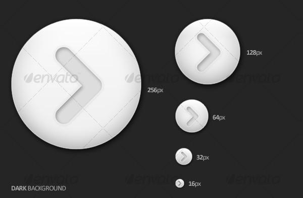Light Arrow Buttons