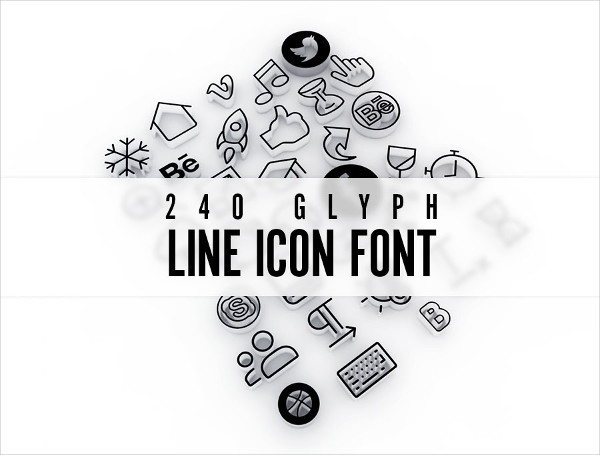 Best Line Icon Fonts