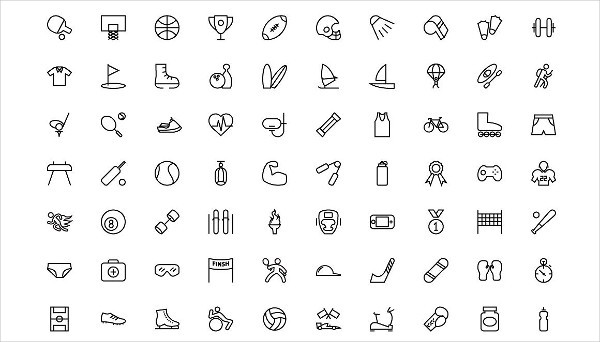 Vector Line Icons Bundle