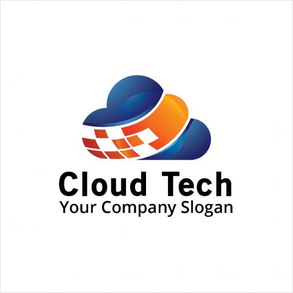 Free Logo with a Blue & Orange Cloud