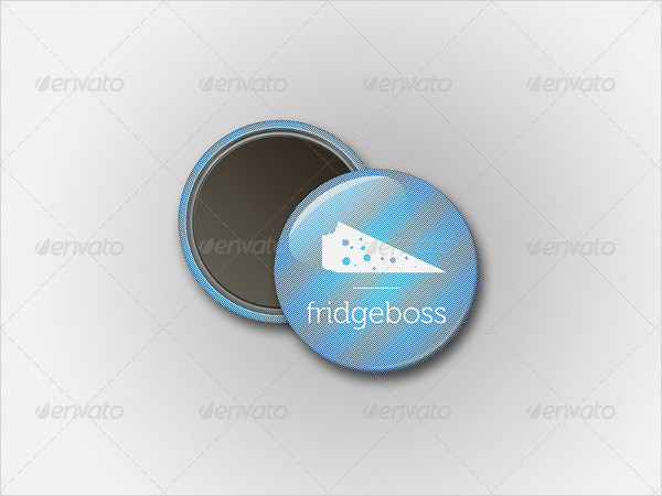 Magnet Button Badge Mock-Up Template