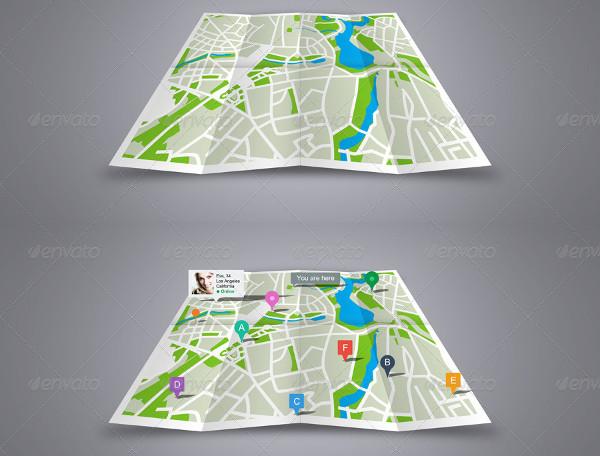 Map or Poster Folder Mock-Up