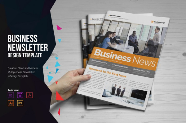 Marketing Newsletter InDesign Template
